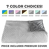 Premium Weighted Blanket, Perfect Size 60' x 80' and Weight (12lb) for Adults and Children. Deluxe CALMFORTER(tm) Blanket. Price Includes Cover!