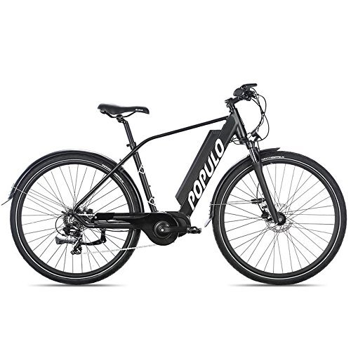 POPULO Scout Ebike, Hybrid Electric Bicycle, 350W Motor, 20mph Top Speed, 28 Mile Range