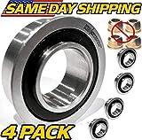 (4 Pack) Craftsman, Sears, AYP, Husqvarna 9040H Front Wheel Bushing to Bearing Conversion Kit OEM Upgrade - HD Switch