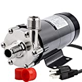 OneBom Brewing Pump, MP- 15R Magnetic Beer Water Pump,Stainless Steel 304 Food Grade, High Temperature Resistance with CE Certification, 110V US Plug