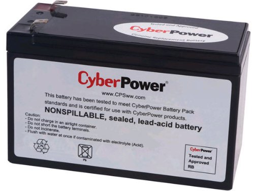 CyberPower RB1290 Replacement Battery Cartridge, Maintenance-Free, User Installable