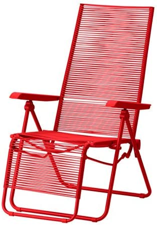 Ikea Vasman Deck Chair Outdoor Red Amazon Co Uk Kitchen Home