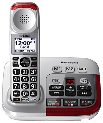 PANASONIC Amplified Cordless Phone with...