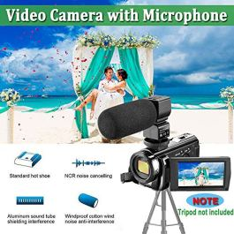 Camcorder Video Camera 4K 48MP WiFi YouTube Camera Night Vision Camcorder Blogging Camera 16x Digital Camera Vlog Video Camera Camcorder with Lens Hoods