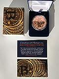 Virginia City Mint Commemorative Bitcoin Coin Set...Solid Copper...Limited Edition...w/ COA