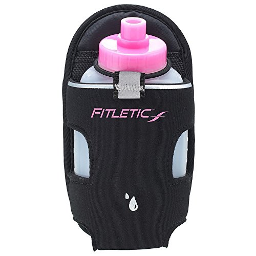 Fitletic Water Bottle Carrier 6 Oz Pink Single   Running Belt Add-on for Triathlon, Trail, Ironman, Hiking, Walking, and Sport   Running Hydration   Sports Water Bottle   AD06-02