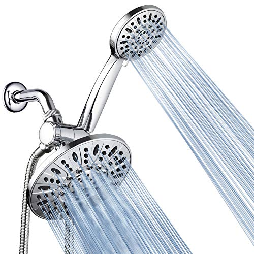 """AquaDance 7"""" Premium High Pressure 3-way Rainfall Shower Combo Combines the Best of Both Worlds - Enjoy Luxurious 6-Setting Rain Showerhead and 6-setting Hand Held Shower Separately or Together!-3328"""