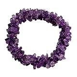 NOVICA Stretch Amethyst Stone Bracelet, Lilac Muse'