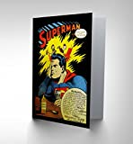 NEW VINTAGE COMIC BOOK HEADACHE SUPERMAN ADVERT NEW BLANK GREETINGS CARD CP1395