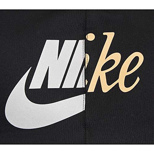 Nike Women's AQ8109-010 Bra (AS Swoosh MTLC Futura Black/Metallic Gold_M)