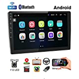 Car Stereo Double Din Android Navigation Stereo 10 Inch HD Touch Screen in Dash Car Stereo with Bluetooth GPS WiFi FM Radio Support Mirror Link, Steering Wheel Control, Rear View Camera/Dual USB