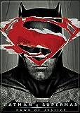 """Ata-Boy Batman v Superman Dawn of Justice Superman over Batman 2.5"""" x 3.5"""" Magnet for Refrigerators and Lockers"""