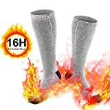 weird tails Heated Socks, Upgraded Electric Rechargeable Battery Heating Socks for Men Women, 3.7V 4800mAh Battery Powered Cold Weather Heat Socks Long Lasting Safe Warmers, Up to 9 Hours of Heat (Gra