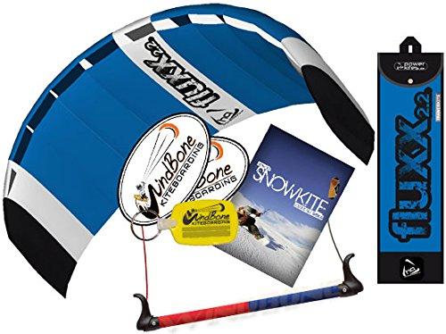 HQ Fluxx 2.2M Trainer Kite TR plus Snowkiting DVD Bundle (4 items) Includes How To Snowkite Instructional DVD by Morten Gjerstad + WindBone Kite Lifestyle Decals + WindBone Key Chain : Foil Snow 2.2
