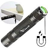 WISSBLUE X2 Military Grade Tactical Flashlight Rechargeable,6 Mode 1600 High Lumen Flashlight,Best 18650 Led Tactical Flashlight Black set
