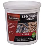 Smoking Wood Pellets (Cherry)- Kiln Dried BBQ Pellets- 100% All Natural Barbecue Smoker Chips- 1 Pint Bucket