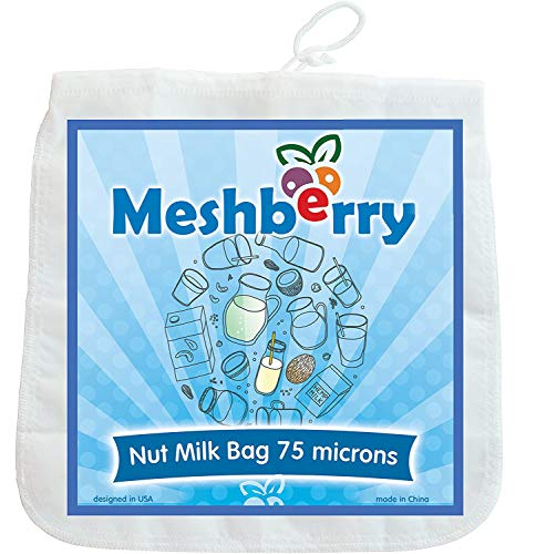 Meshberry Nut Milk Bag - Cheesecloth and Food Strainer - Almond Milk,...