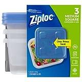 Ziploc Container, Medium Square, 3 Count
