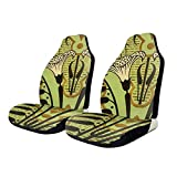Car Seat Covers Gothic Lily Elastic Saddle Blanket With Seat Universal Car Seat Accessories,2 PCS