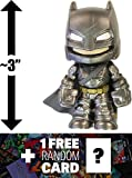 "Armored Batman: ~3"" Batman v Superman 'Dawn of Justice' x Funko Mystery Minis Vinyl Figure Series + 1 FREE Official DC Trading Card Bundle [87388]"