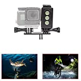 ADIKA Underwater Light for GoPro 30m Waterproof Sidekick Side LED Flash Spot Flood Lighting Camera Accessories - for Dive Diving Scuba - for GoPro Hero 2018 6 5 4 3+ 3 2 SJcam SJ5000 EKEN Xiaomi Yi