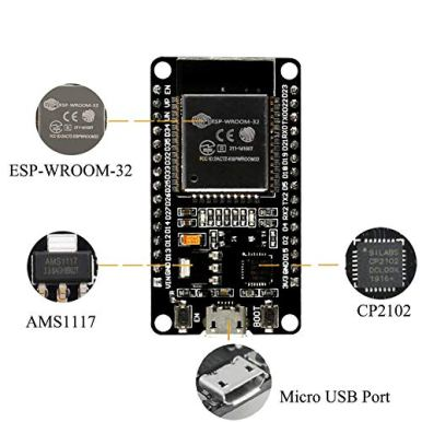 ESP-WROOM-32-ESP32-ESP-32S-Development-Board-24GHz-Dual-Mode-WiFi-Bluetooth-Dual-Cores-Microcontroller-Processor-Integrated-with-Antenna-RF-AMP-Filter-AP-STA-Compatible-with-Arduino-IDE-1-PCS