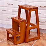 Product review for Portable Folding Step Stool 3-Step Foldable Ladder Chair Bench Multi-Functional Utility Seat Space Saving Furniture High Load Capacity Lightweight For Home Kitchen Bathroom Office Use Durable Safe