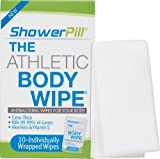 Shower Pill Body Cleaning Wipes with Special Cleansing Solution - Mens Shower Wipes - Special Cleansing Cloths - Camping Wipes for Bathing - 30 Seconds Clean with Body Gym Wipes