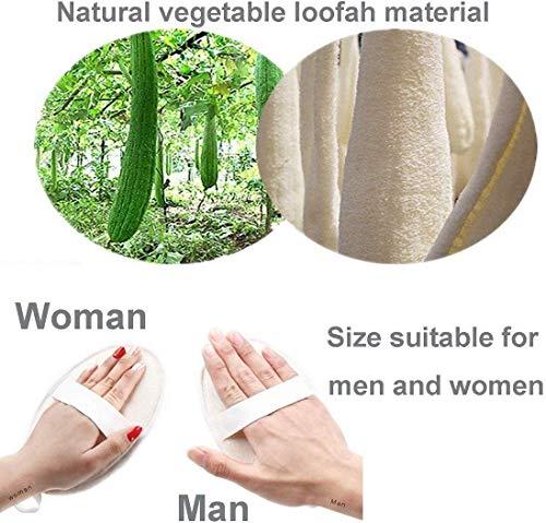51LSEbRIntL BEAUTRISTRO Set Of 4 Natural Loofah For Women Bath Sponge Oval Loofah For Men And Women Loofah For Bathing Bath Sponge For Bathing Bath Scrub Brush