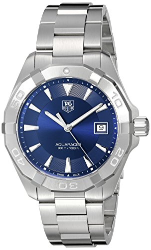 51LSFGyOrhL Stainless steel case with a stainless steel bracelet. Uni-directional rotating stainless steel with mark bezel Blue dial with luminous silver-tone hands and index hour markers. Minute markers around the outer rim Swiss-quartz Movement