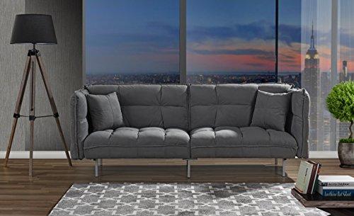 Divano Roma Furniture Collection Modern Plush Tufted Velvet Fabric