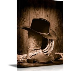Cowboy Hat & Boots Wall Art