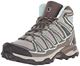 Salomon Women's X Ultra MID AERO W-W, Titanium/Swamp/Opaline Blue, 9 B US