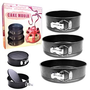 Set of 3 Round Cake TIN Set Non Stick Spring Form Loose Base Baking PAN Tray(Approx Size: 20/22 / 24 cm) 51LZCXwNWjL