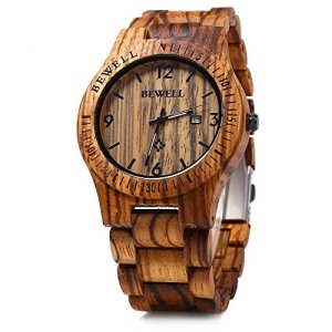 Bewell W086B Mens Wooden Watch Analog Quartz Lightweight Handmade Wood Wrist Watch 15 Fashion Online Shop gifts for her gifts for him womens full figure