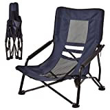 KCHEXOutdoor High Back Folding Beach Chair Camping Furniture Portable Mesh Seat NavyOur Blue Outdoor high Back Beach Chair Would Provide Great Comfort Wherever You go with This Chair