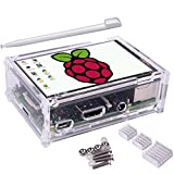 TFT Touch Screen, Kuman 3.5 inch 320x480 Resolution TFT LCD Display with Protective Case + 3 x Heat sinks+ Touch Pen for Raspberry Pi 3 Model B, Pi 2 Model B & Pi Model B+ SC11