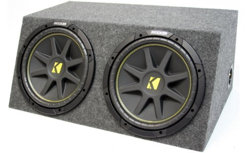 ASC Package Dual 12' Kicker Sub Box Sealed Hatch Subwoofer Enclosure C12 Comp 600 Watts Peak