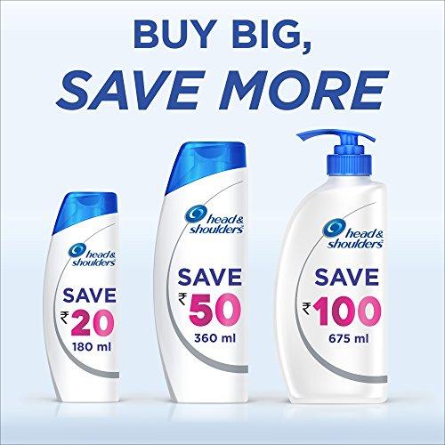 51Le4IYU8bL Head & Shoulders Smooth and Silky Anti Dandruff Shampoo, 650ml
