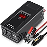 POTEK 750W Power Inverter 12V DC to 110V AC Car Adapter with Two USB and AC Charging Ports for Laptop, Tablet, Smartphone,Camera and More