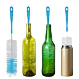 16' Long Bottle Brush Cleaner for Washing Wine, Beer, Swell, Decanter, Kombucha, Thermos, Glass Jugs and Long Narrow Neck Sport Bottles