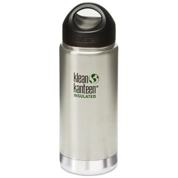 Klean Kanteen Wide Insulated Bottle with Stainless Steel Loop Cap