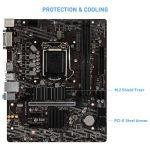 MSI B460M-A PRO ProSeries Motherboard (mATX, 10th Gen Intel Core, LGA 1200 Socket, DDR4, M.2 Slot, USB 3.2 Gen 1, 2.5G…