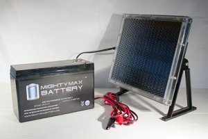 12V 9AH Battery For ESR750EX Scooter + 12V Solar Panel Charger – Mighty Max Battery brand product