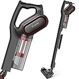 iTvanila Vacuum Cleaner, Stick Bagless Hepa Vacuum Cleaners,2 in 1 Corded Pet Upright Handheld 15KPa Vacuum Cleaner for Hard Floor Cleaning Pet Hair Black