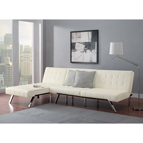 Awesome Modern Sofa Bed Sleeper Faux Leather Convertible Sofa Set Couch Bed Sleeper Chaise Lounge Furniture Vanilla White Unemploymentrelief Wooden Chair Designs For Living Room Unemploymentrelieforg