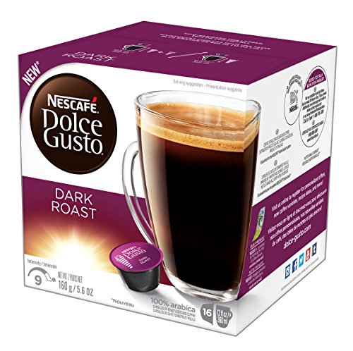 NESCAFÉ Dolce Gusto Coffee Capsules  Dark Roast  48 Single Serve Pods, (Makes 48 Cups)        48 Count