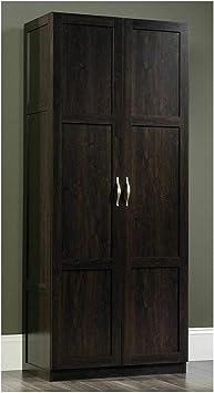 Amazon Com Thaweesuk Shop New Dark Brown Cupboard Storage Cabinet Kitchen Bathroom Pantry Laundry Closet Organizer Utility Shelf Shelves Furniture Wood Wooden 29 63 W X 16 13 D X 71 13 H Furniture Decor