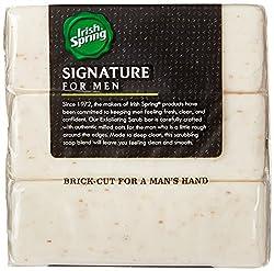 Irish Spring Signature Exfoliating Bar Soap, 6oz, 3 Count  Image 2