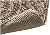 Klickpick Designs Thick Plush Bath Mats Soft Bath Mat Chenille Washable Bath Rugs Microfiber Shaggy Non Slip Bathroom Rug Anti Slip Absorbent Bath Rug Carpet with Non Skid Backing (16' x 24', Beige)